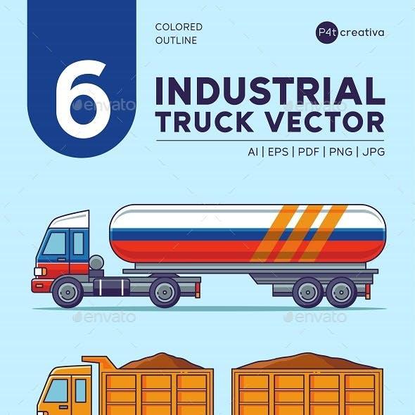 6 Industrial Truck Illustration