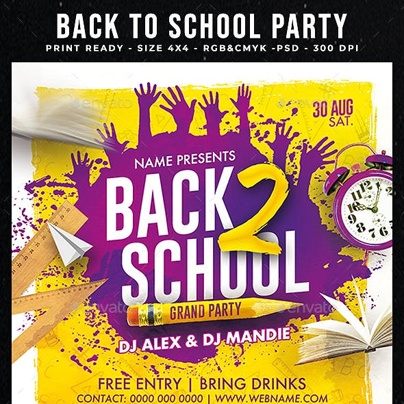 Back To School Party Template