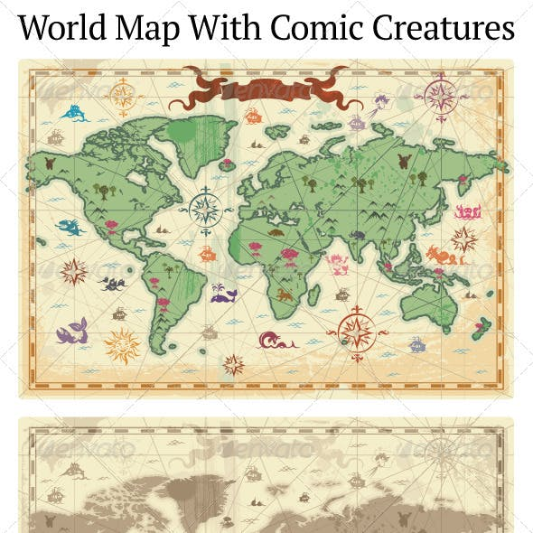 Ancient-style World Map
