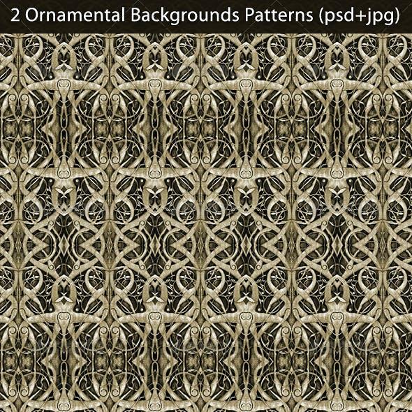 2 Ornamental Backgrounds Patterns