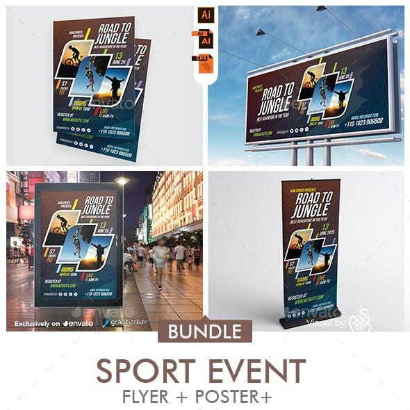 Sports Event Promotional Print Template Bundle