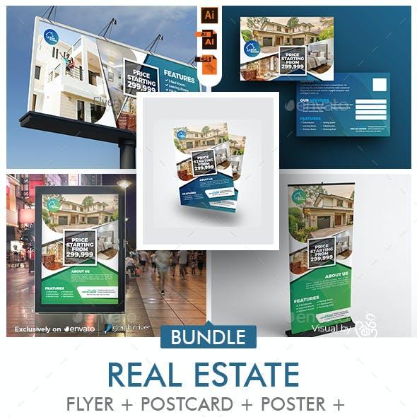 Real Estate Promotional Print Template Bundle