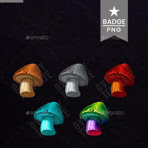 Sub Badges Fungi for Twitch