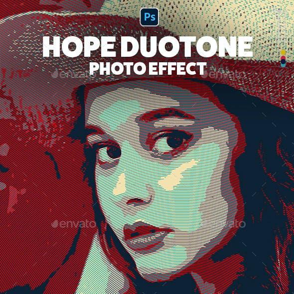 Hope Duotone Photo Effect Template