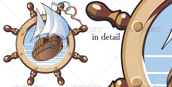 ship & wheel - Travel Conceptual