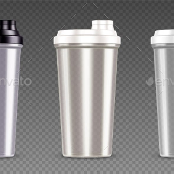 Plastic Bottle for Protein Shake and Sport Drink