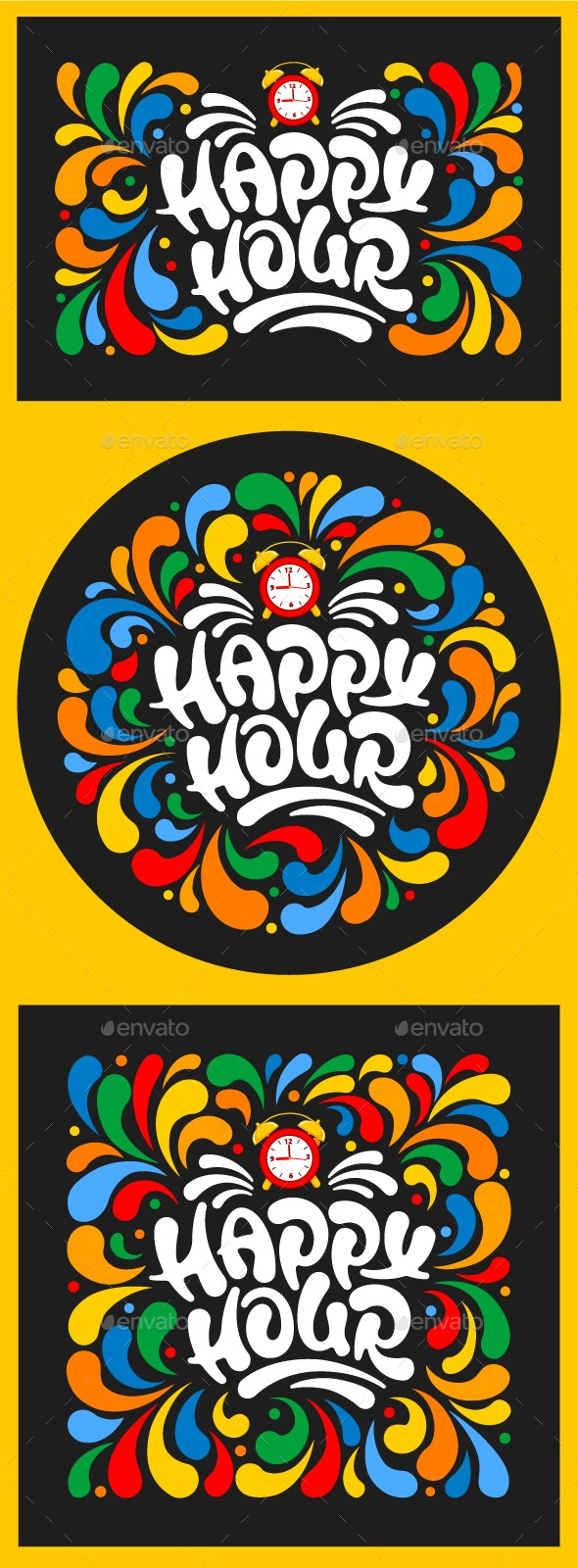 Happy Hour Designs Set - Commercial / Shopping Conceptual