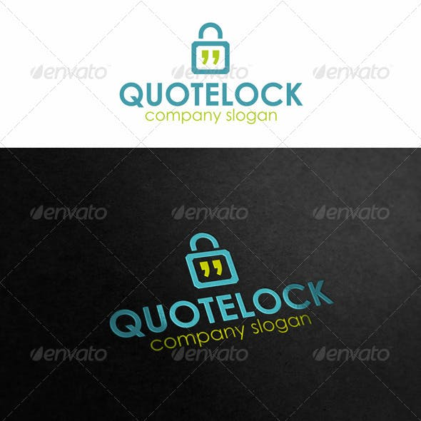 Quotes Talk Lock Logo