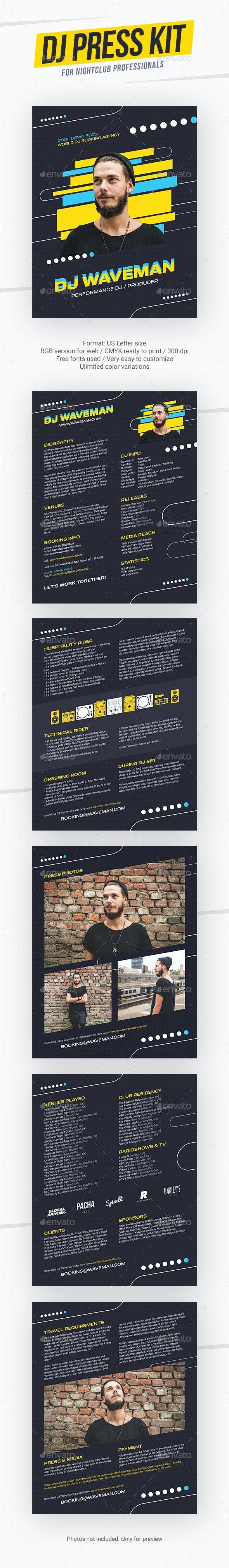 DJ Press Kit & Resume Template - Resumes Stationery