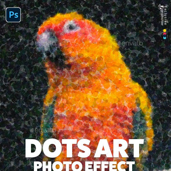 Artistic Dots Photo Template