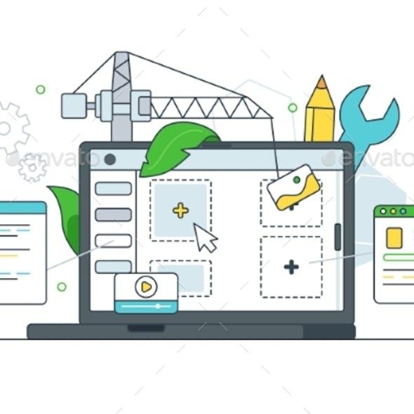 Digital Website Page Layout Development