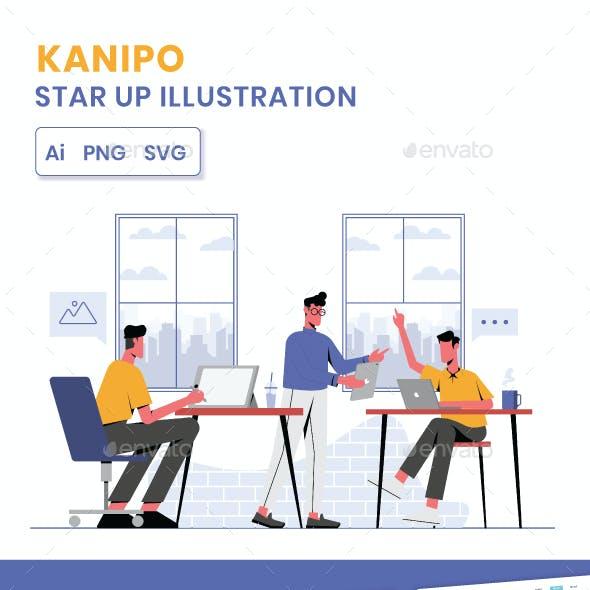 Kanipo-Star up Illustration