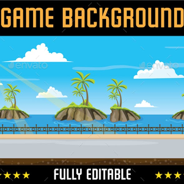 Loopable Mountain Ocean Game Background