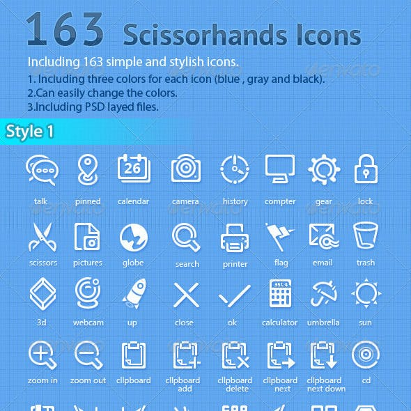 163 Simple Icons