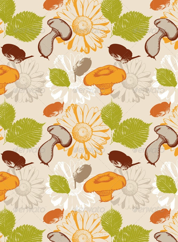 Autumn Seamless - Patterns Decorative