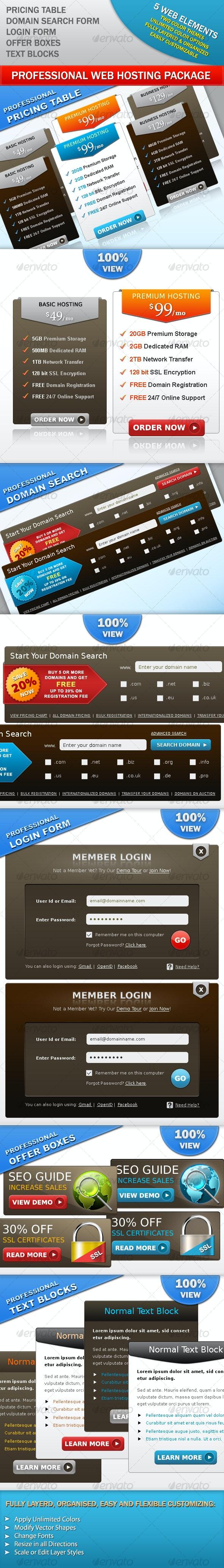 Web Hosting Package - Web Elements