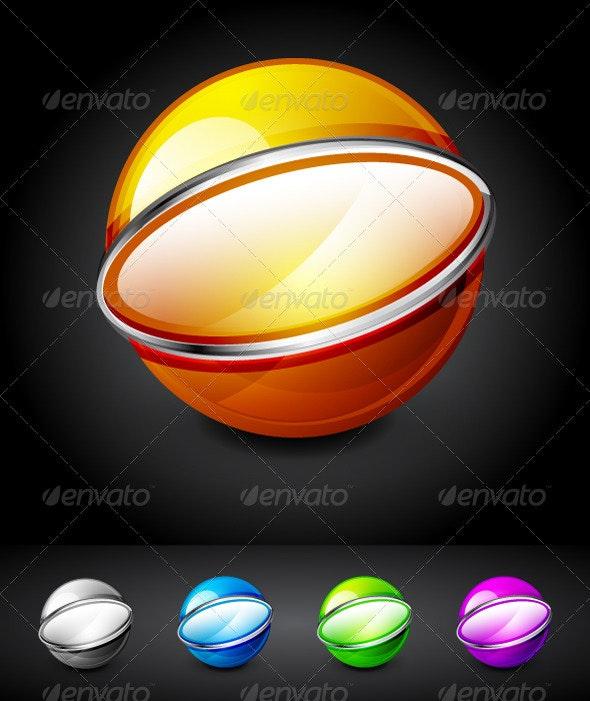 Hi-tech 3d Spheres - Decorative Symbols Decorative