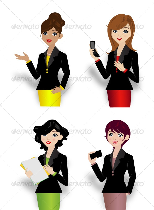 Executive Ladies Illustration - Vector - People Characters