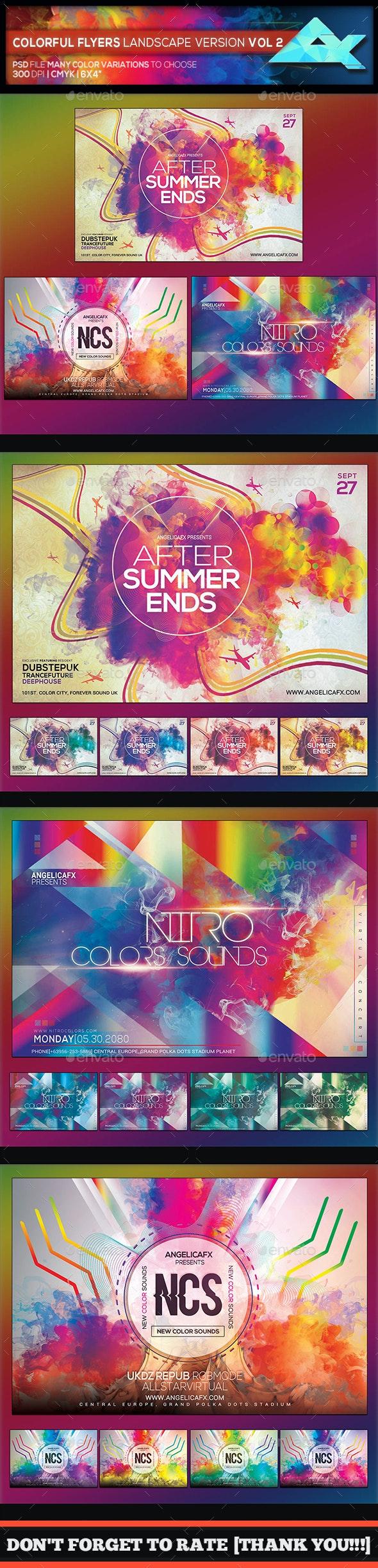 Colorful Flyers Landscape Version Bundle Vol. 2 - Flyers Print Templates