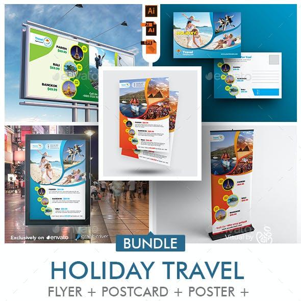 Travel Agency Promotional Print Template Bundle