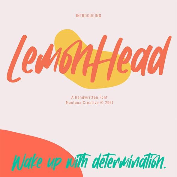 Lemonhead Handwritten Font