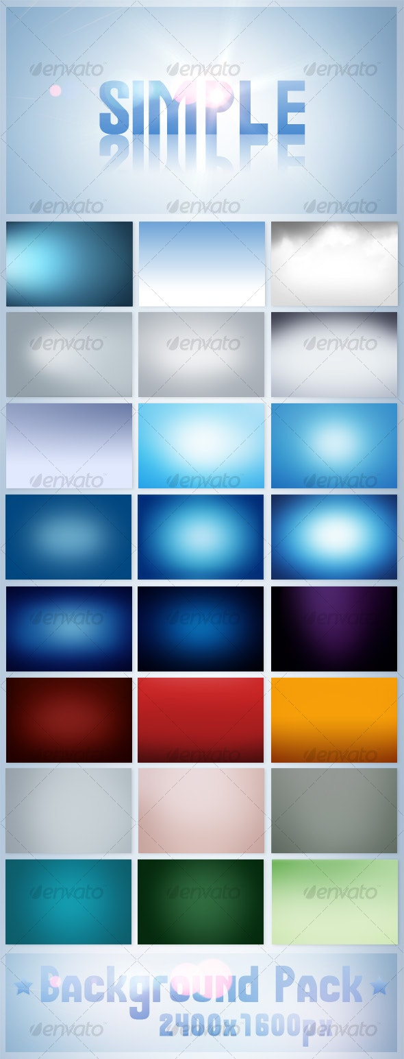 Simple Background Pack - Backgrounds Graphics