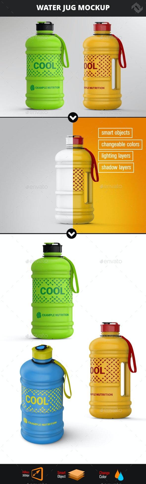 Sports Nutrition Water Jug Bottle Mockup - Packaging Product Mock-Ups