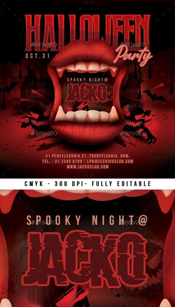 Spooky Halloween Night Flyer - Clubs & Parties Events