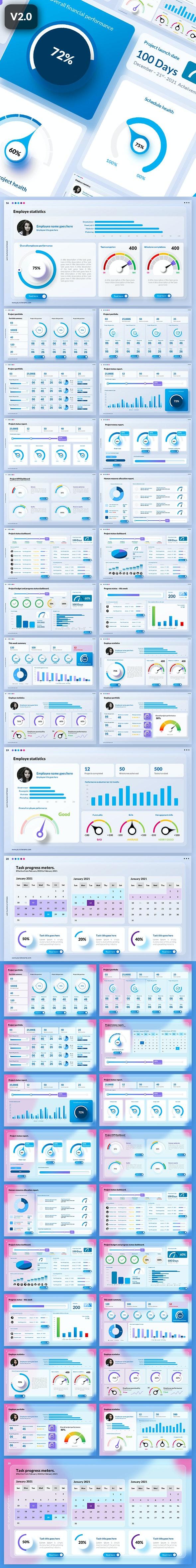 Glassmorphic Project Management Dashboard - PowerPoint Templates Presentation Templates