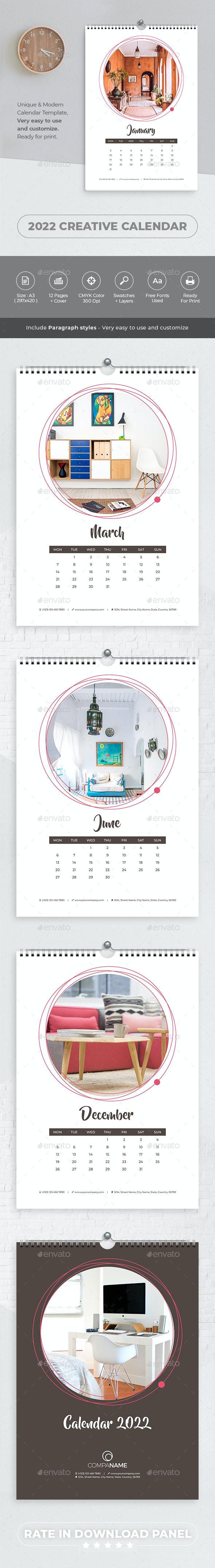 2022 Creative Calendar - Calendars Stationery