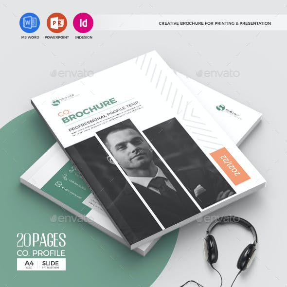 PPT & Docx Brochure Template, 20 Pages