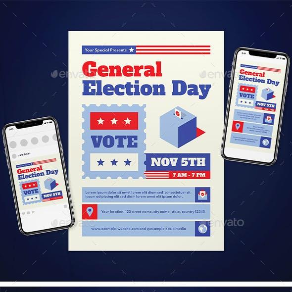 General Election Day Flyer Set