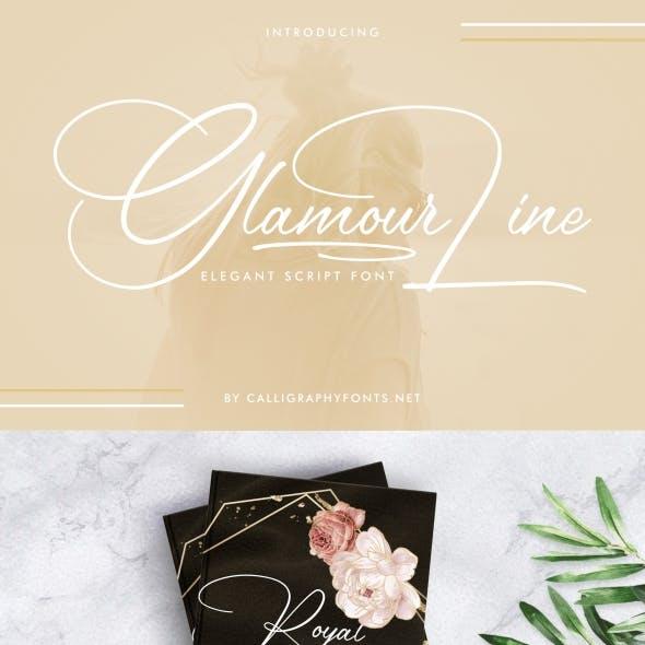 Glamour Line Handwriting Font
