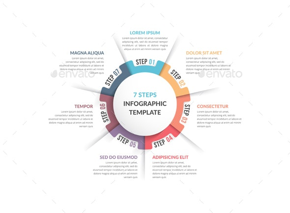 Circle Diagram with Seven Elements - Infographics