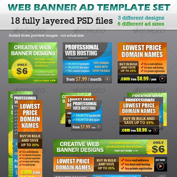Web Banner Ad Template Set