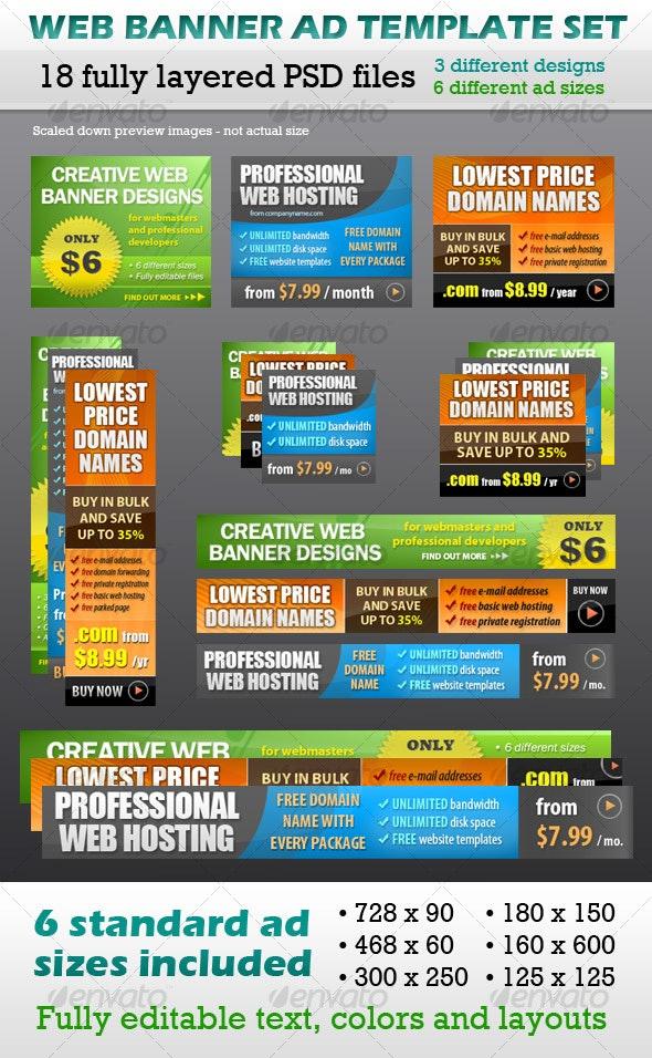 Web Banner Ad Template Set - Web Elements
