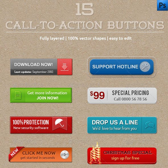 15 Call-To-Action Buttons