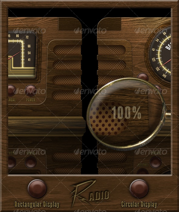 Old Radio - Technology Isolated Objects