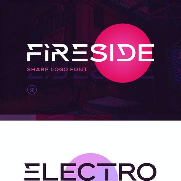 Fireside - Sharp Logo Font