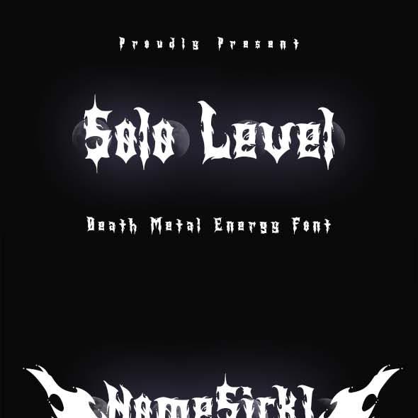 Solo Level - Death Metal Energy Font