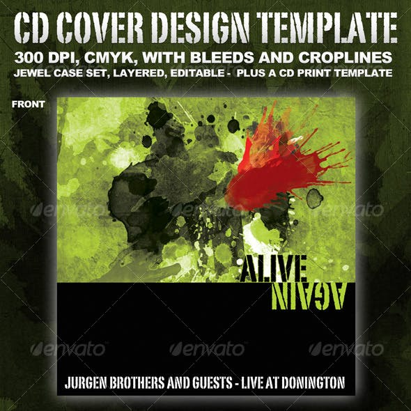 CD cover template