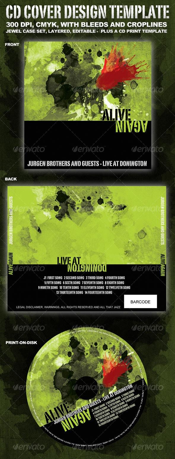 CD cover template - CD & DVD Artwork Print Templates