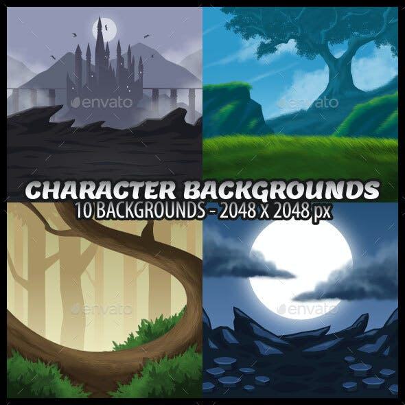 RPG Backgrounds for Game Character