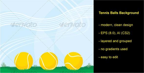 Tennis Balls Background - Backgrounds Decorative