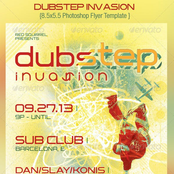 Dubstep Invasion Flyer Template