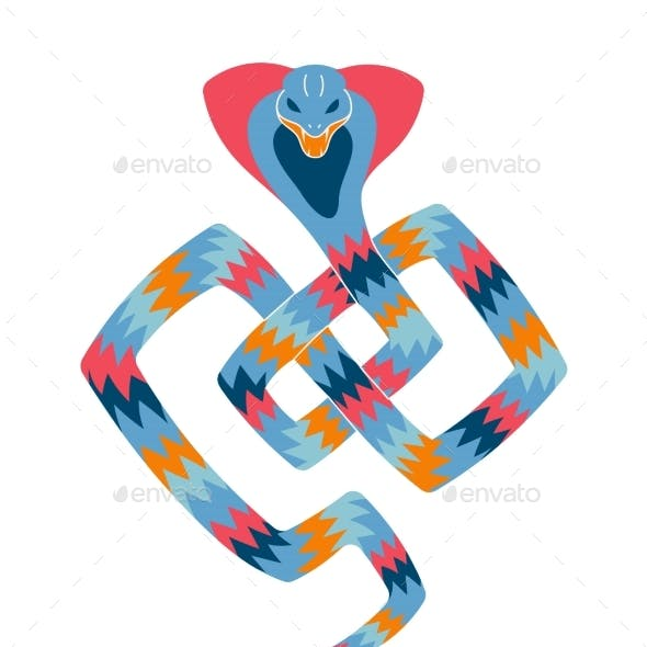 Mythical Hypnotic Snake Mystical Character Wild