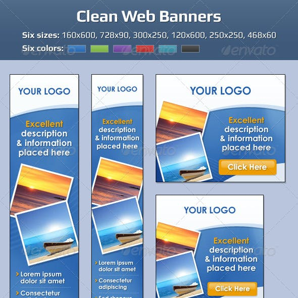 Clean Web Banners