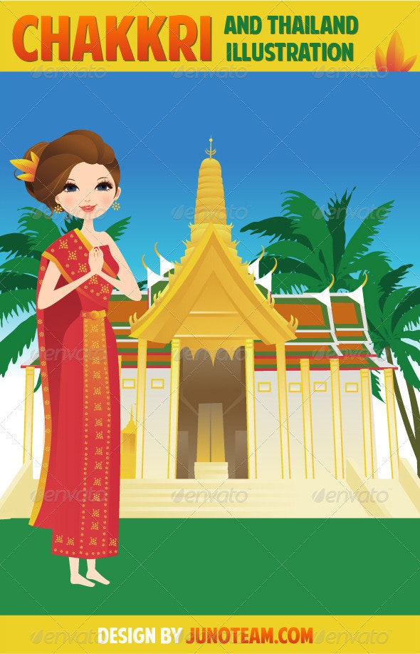 Chakkri And Thailand Collection - Characters Vectors