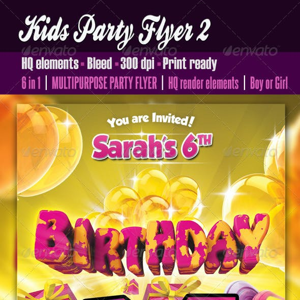 Kids Party Flyer2