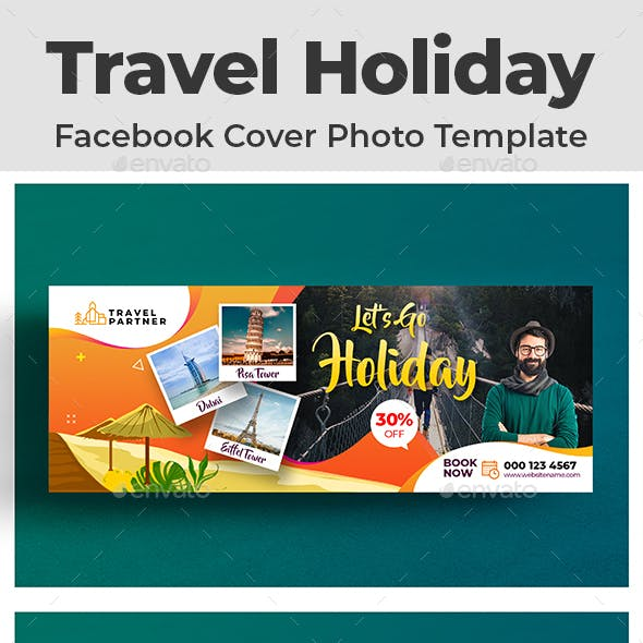 Travel Holiday Facebook Cover Photo Template